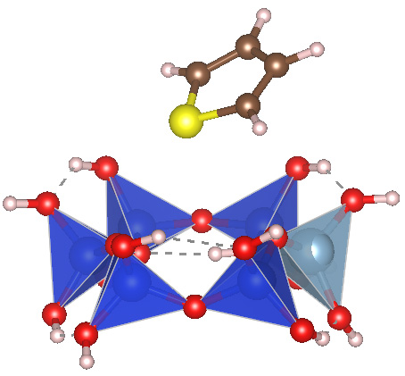 Sulphur containing thiophene molecule adsorption on reduced Zeolite cluster. [Publication in preparation]